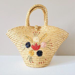 Straw bag. Made in Italy.